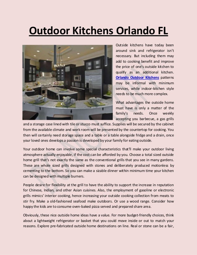 Outdoor Kitchen Builders In Orlando