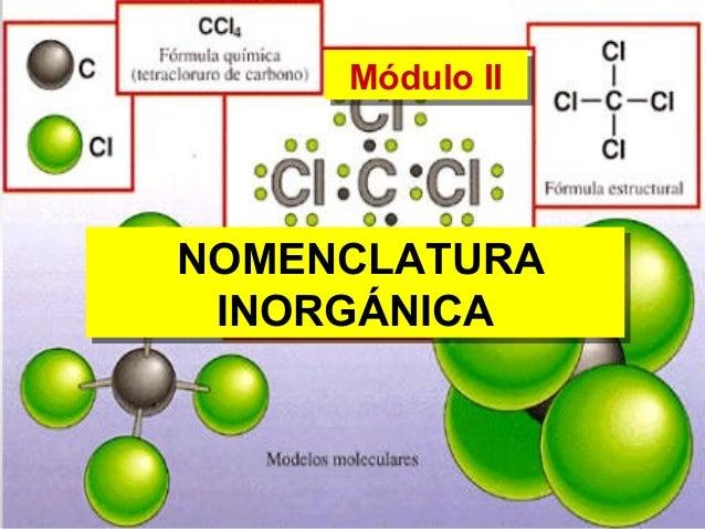 Módulo IIMódulo II NOMENCLATURA INORGÁNICA NOMENCLATURA INORGÁNICA