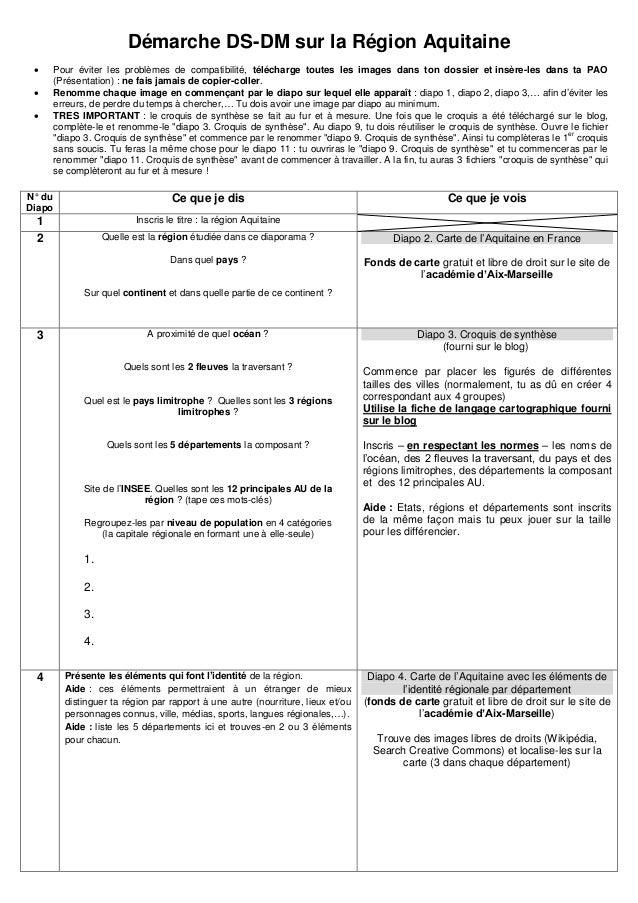 Démarche DS-DM sur la Région Aquitaine     Pour éviter les problèmes de compatibilité, télécharge toutes les images dan...