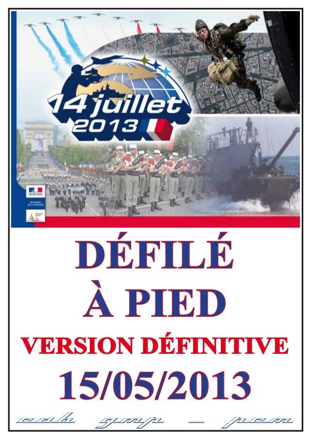 15/05/2013 CAB GMP / PCM DÉFILÉ À PIED VERSION DÉFINITIVE