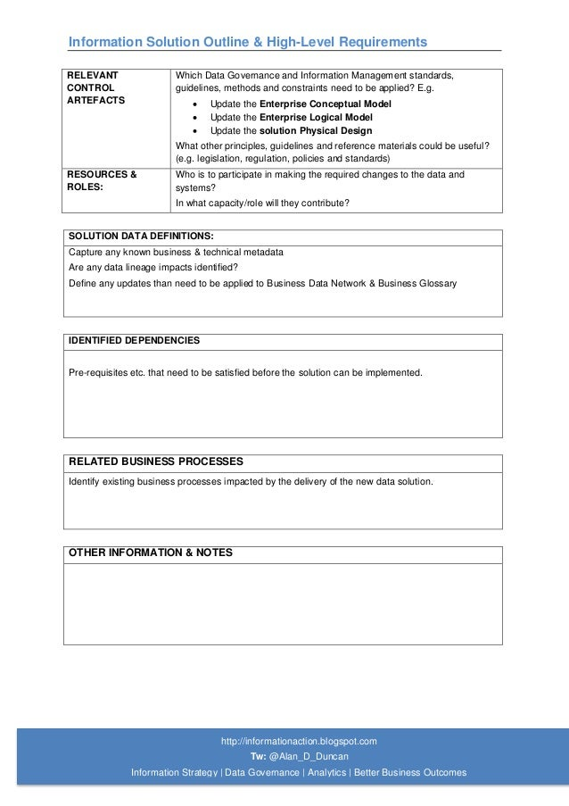 02 Information solution outline template