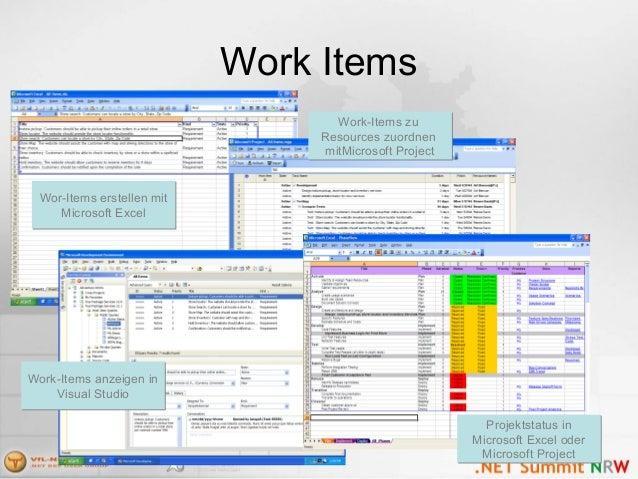Work Items Wor-Items erstellen mit Microsoft Excel Wor-Items erstellen mit Microsoft Excel Work-Items anzeigen in Visual S...