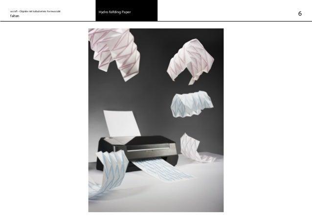 on/off – Objekte mit kalkuliertem Formwandel falten Hydro folfding Paper 6