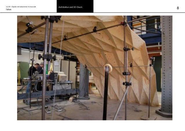 on/off – Objekte mit kalkuliertem Formwandel falten Architektur und 3D-Druck 8