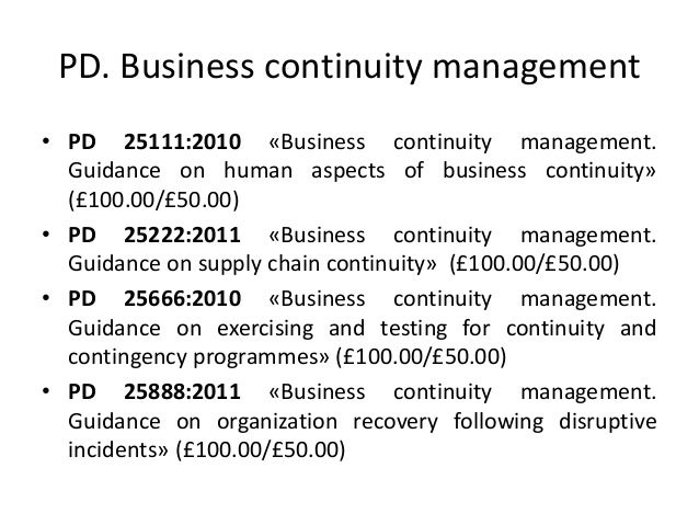 business continuity good practice guidelines 2010