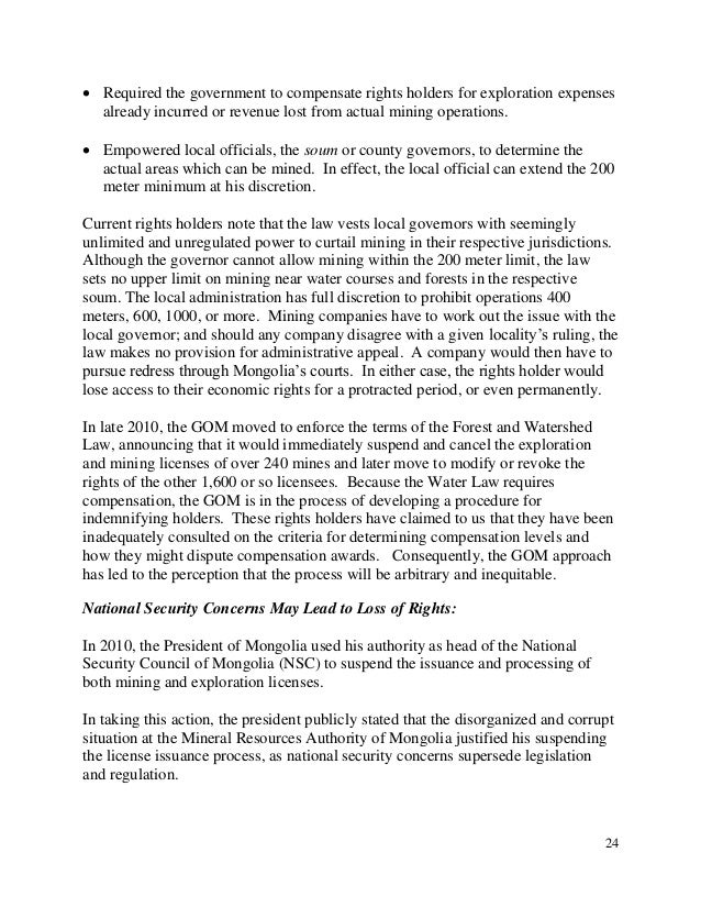 02 28 2011, REPORT, 2011 Mongolia Investment Climate