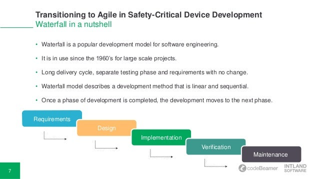 Transitioning To Agile In Safety Critical Device Development