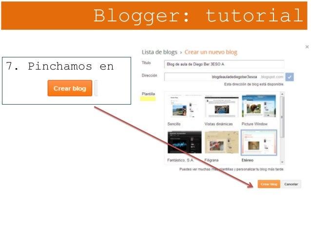 Blogger: tutorial 7. Pinchamos en