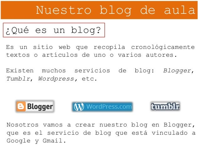 02. Blogger. Creación del blog Slide 2