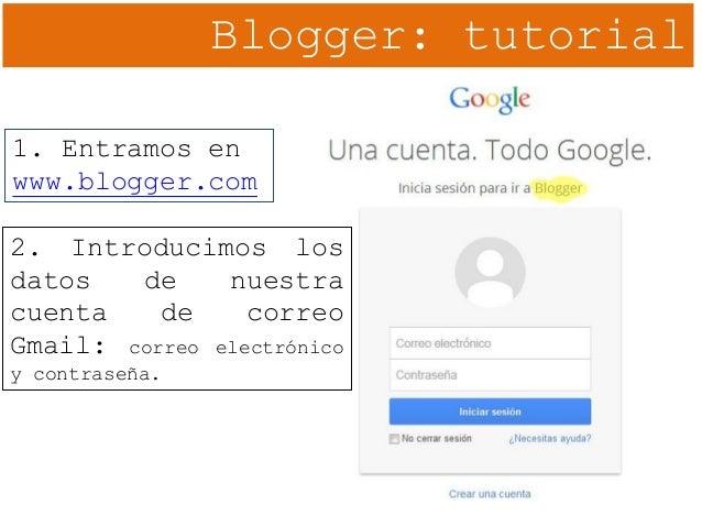 02. Blogger. Creación del blog Slide 3