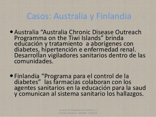 "Casos: Australia y Finlandia Australia ""Australia Chronic Disease Outreach Programma on the Tiwi Islands"" brinda educació..."