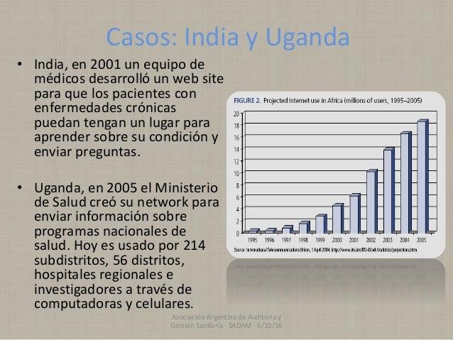 Casos: India y Uganda • India, en 2001 un equipo de médicos desarrolló un web site para que los pacientes con enfermedades...