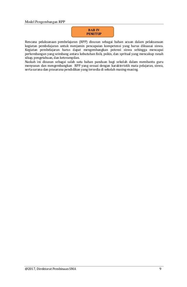 Diktat Model Pengembangan Rpp K 13 Kemendikbud