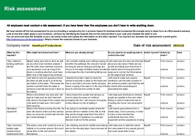 02 Risk Assessment Updated Risk assessments play an integral role in workplace health and safety. 02 risk assessment updated