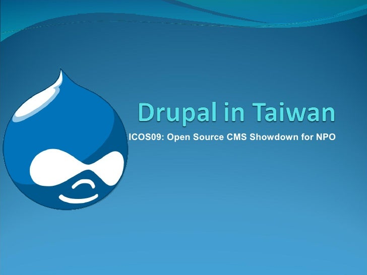 ICOS09: Open Source CMS Showdown for NPO