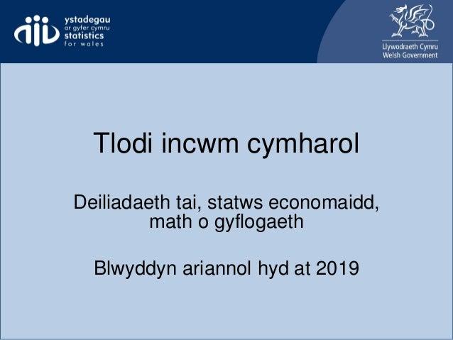 Tlodi incwm cymharol Deiliadaeth tai, statws economaidd, math o gyflogaeth Blwyddyn ariannol hyd at 2019