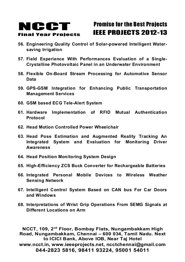 02 2012 11 Ieee Embedded System Project Titles Ncct Ieee