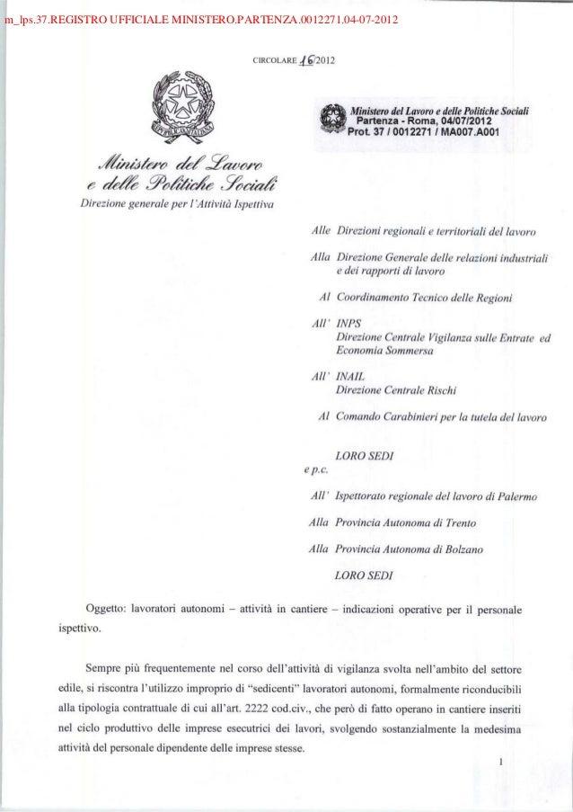 m_lps.37.REGISTRO UFFICIALE MINISTERO.PARTENZA.0012271.04-07-2012