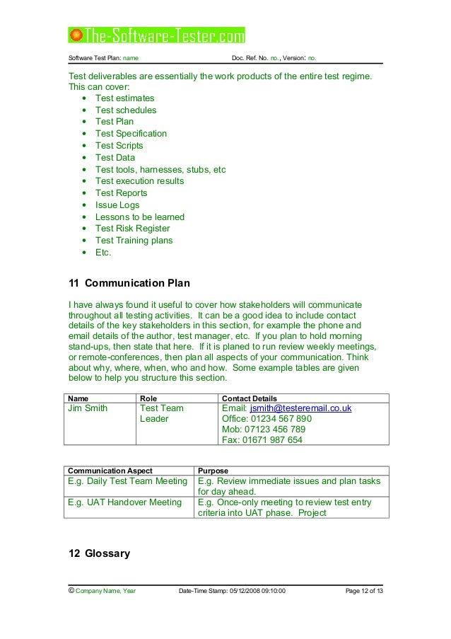 02 software test plan template