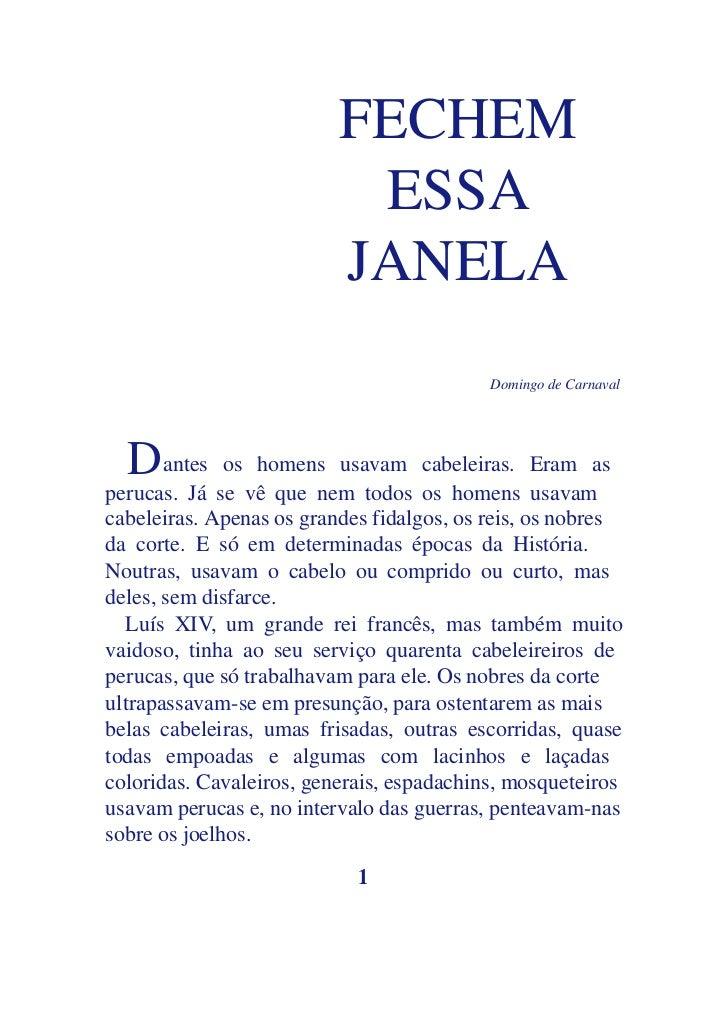FECHEM                           ESSA                          JANELA                                           Domingo de...