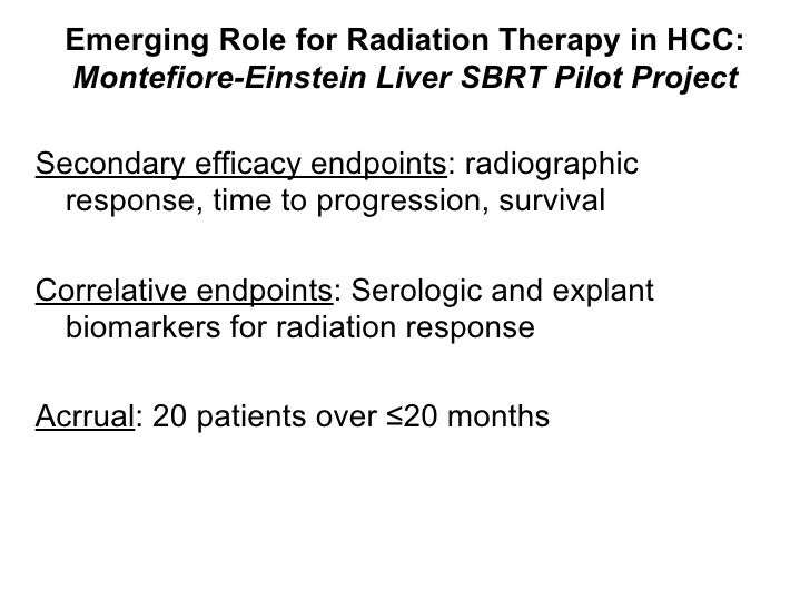 <ul><li>Secondary efficacy endpoints : radiographic response, time to progression, survival </li></ul><ul><li>Correlative ...