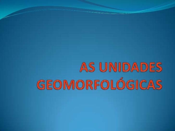 Unidades geomorfológicas do território português