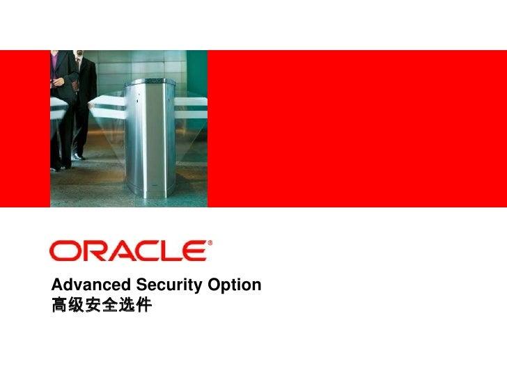 <Insert Picture Here>     Advanced Security Option 高级安全选件
