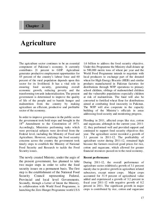 Chapter 2 AgricultureThe agriculture sector continues to be an essential   1.6 billion to address the food security object...