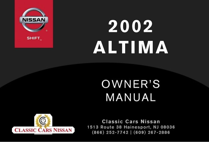 Awesome 2002 Altima Owner S Manual Rh Slideshare Net 2004 Nissan Altima Owners  Manual Online 2004 Nissan Altima Owners Manual Online