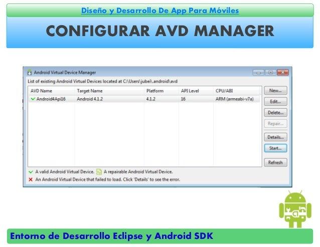 Entornos de desarrollo eclipse y android sdk for Android ar sdk