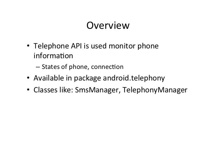 Android Telephony Manager and SMS