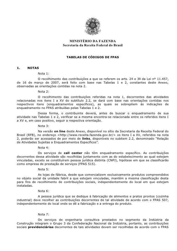 MINISTÉRIO DA FAZENDA                              Secretaria da Receita Federal do Brasil                                ...