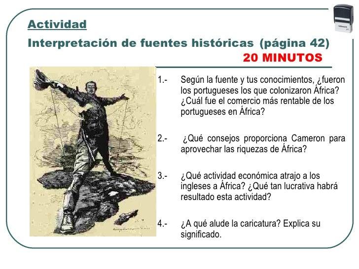 ActividadInterpretación de fuentes históricas (página 42)                                  20 MINUTOS                    1...