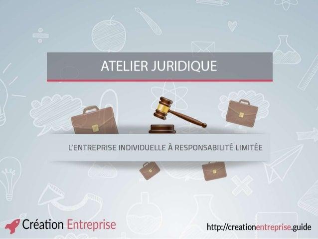 Pourquoi créer une EIRL ? L'entreprise individuelle est la forme juridique la plus simple, pour démarrer une activité et l...