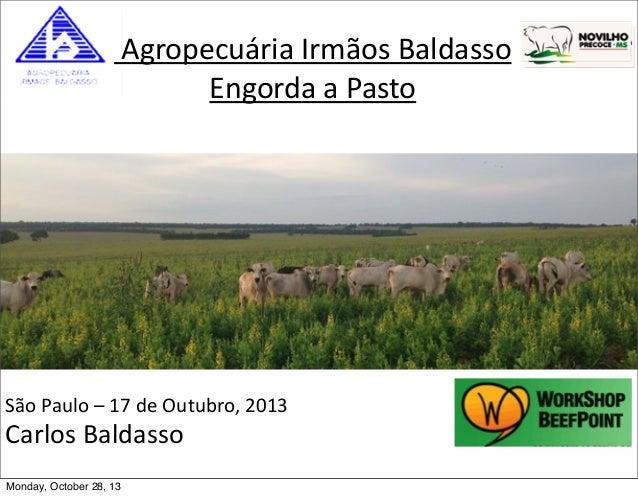Agropecuária  Irmãos  Baldasso   Engorda  a  Pasto  São  Paulo  –  17  de  Outubro,  2013  Carlos ...