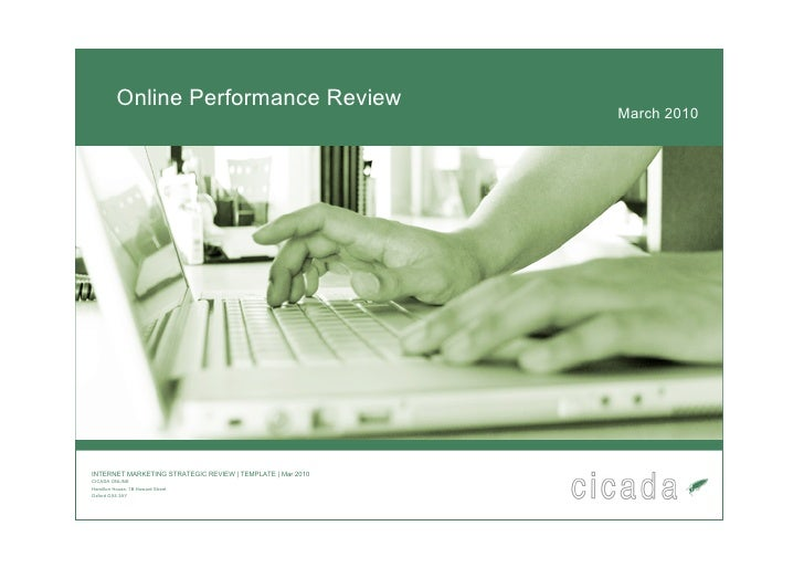 Online Performance Review                                                             March 2010     INTERNET MARKETING ST...