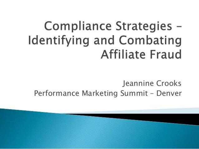 Jeannine Crooks Performance Marketing Summit – Denver