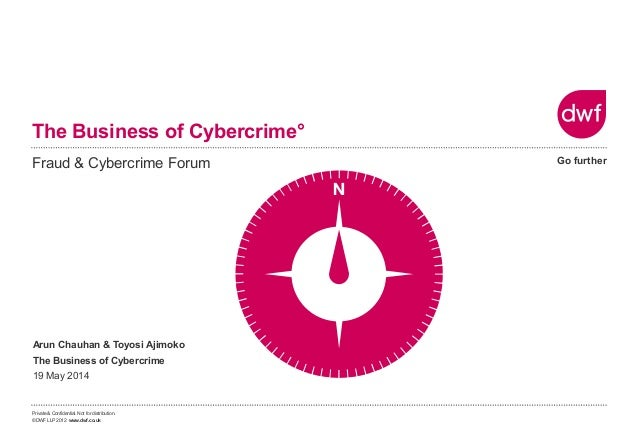 Private & Confidential. Not for distribution. ©DWF LLP 2012 www.dwf.co.uk Go further The Business of Cybercrime° Fraud & C...