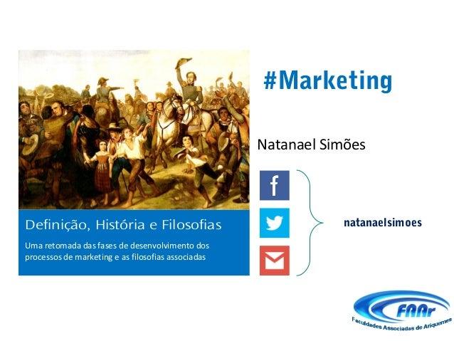 #Marketing                                                    Natanael SimõesDefinição, História e Filosofias             ...