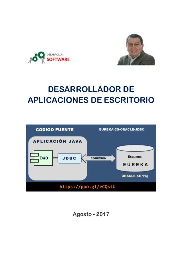 DESARROLLADOR DE APLICACIONES DE ESCRITORIO Agosto - 2017