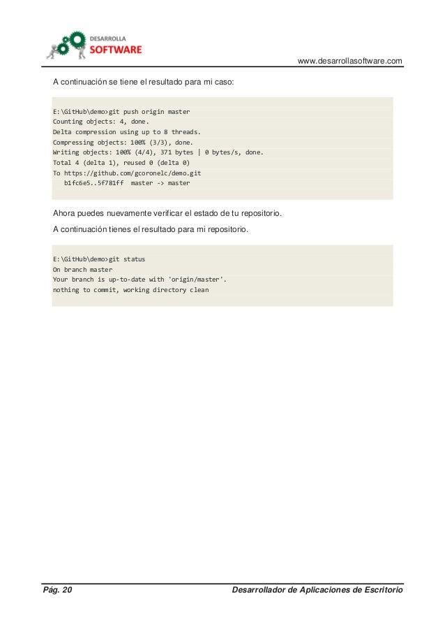 www.desarrollasoftware.com Pág. 20 Desarrollador de Aplicaciones de Escritorio A continuación se tiene el resultado para m...