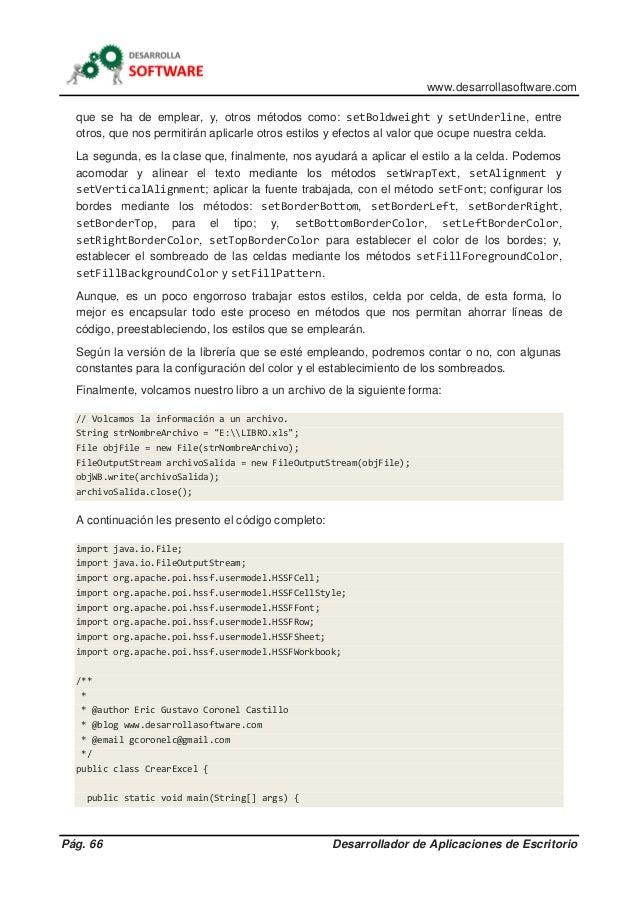 www.desarrollasoftware.com Pág. 66 Desarrollador de Aplicaciones de Escritorio que se ha de emplear, y, otros métodos como...