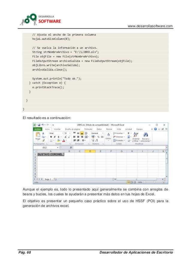 www.desarrollasoftware.com Pág. 68 Desarrollador de Aplicaciones de Escritorio // Ajusta el ancho de la primera columna ho...
