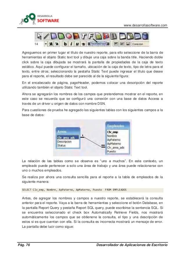 www.desarrollasoftware.com Pág. 76 Desarrollador de Aplicaciones de Escritorio Agreguemos en primer lugar el título de nue...