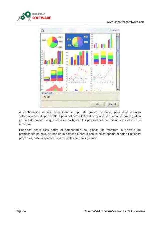 www.desarrollasoftware.com Pág. 86 Desarrollador de Aplicaciones de Escritorio A continuación deberá seleccionar el tipo d...