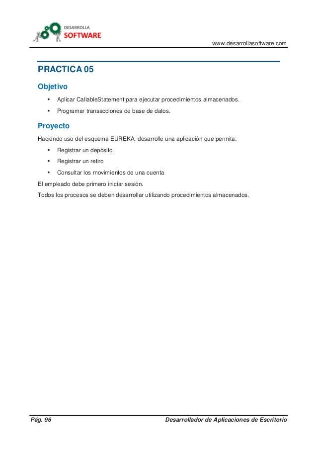 DESARROLLADOR DE APLICACIONES DE ESCRITORIO CON JDBC