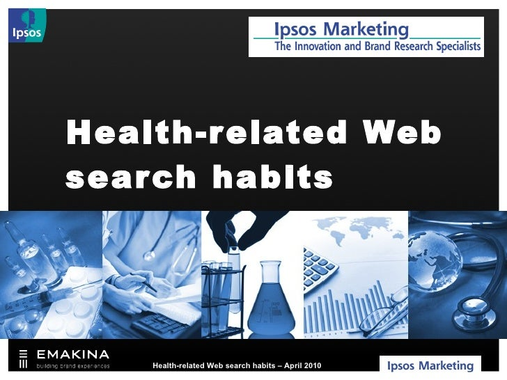 Health-related Web search habits A recent Belgian study