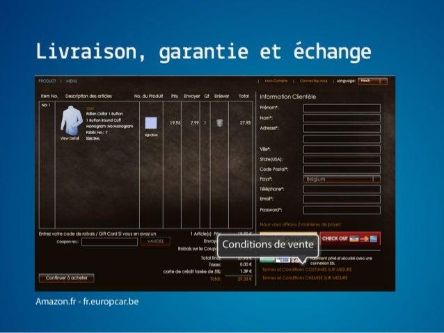 Ergonomie e-commerce - Tunnel de conversion slideshare - 웹