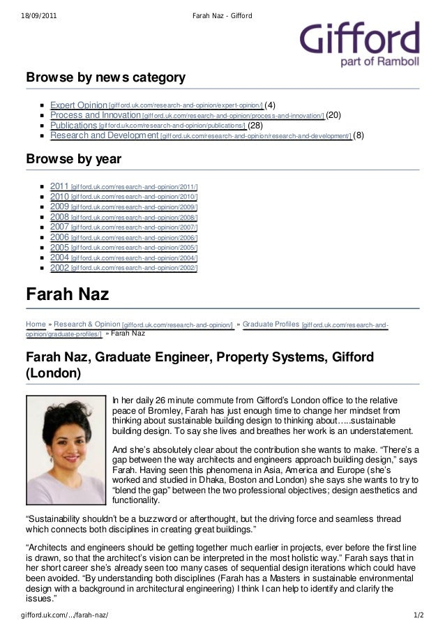 18/09/2011                                             Farah Naz - Gifford Browse by news category        Expert Opinion [...