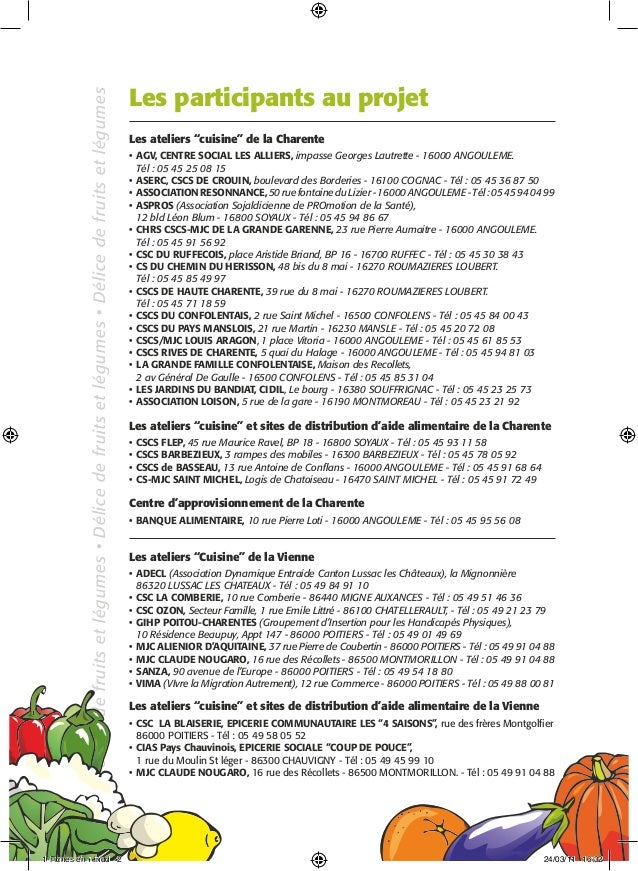 02 fiches supp for Atelier cuisine angouleme